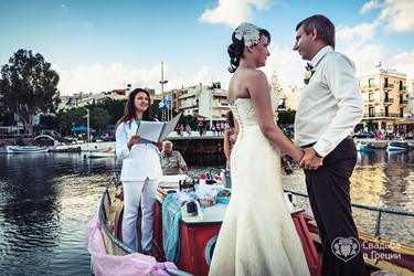 Irina's and Andrey's romantic ceremony on a lake