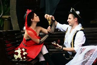 Символическая свадебная церемония  и фотосессия в пиратском стиле Надежды и Максима