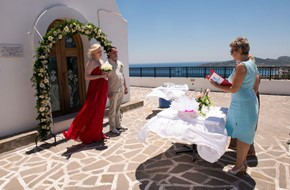 Symbolic wedding ceremony of Valentina and Maxim