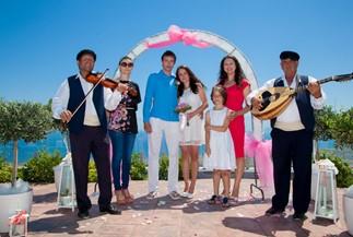 Olesya's and Maxim's hotel wedding on Santorini