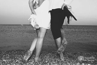 Символическая церемония Алены и Сергея в сине_голубом цвете