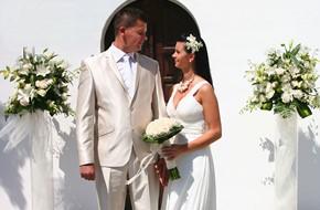 Egle's and Darius' civil wedding ceremony on Rhodes