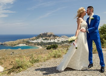 Elena's and Igor's  wedding ceremony with passion for Greece