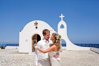 Официальное бракосочетание Марианны и Дмитрия на Родосе