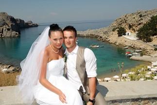 Официальное бракосочетание Аисте и Арунасa на Родосе