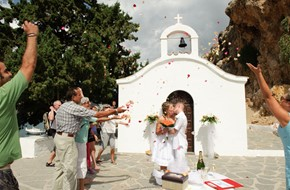 Elena's and Sergey's wedding ceremony at St. Pauls' bay