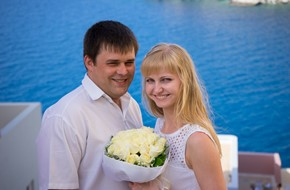 Classical symbolic wedding ceremony of Natalia and Alexander