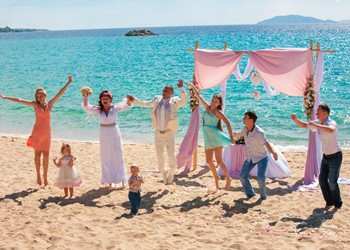 Oxana's and Alexey's beach wedding
