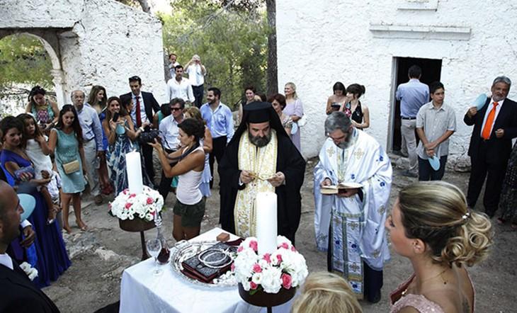 Crete, Orthodox  ceremony, A church wedding on Crete