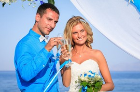 Alina's and Alexander's beach wedding ceremony