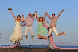 Julia's and Alexey's beach wedding ceremony