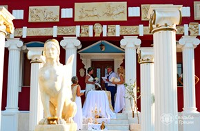 Symbolic wedding in Ancient Greek style of Maria and Evgeniy