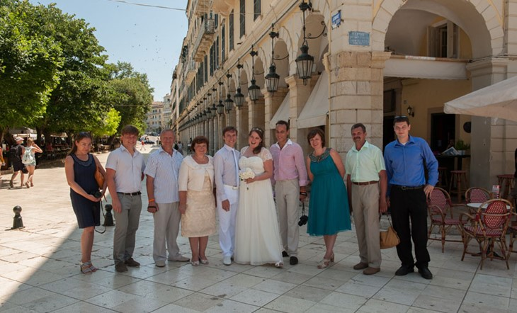civil wedding ceremony on Corfu