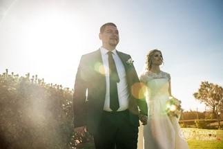 Теплая свадьба Елены и Славы на Крите