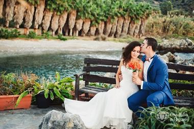 Maria's and Artem's symbolic wedding ceremony on a panoramic veranda