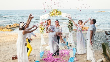 A wedding by the sea on the island of Crete