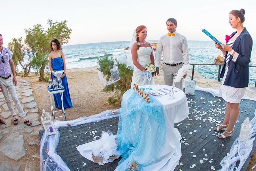 A Wedding By The Sea On Island Of Crete