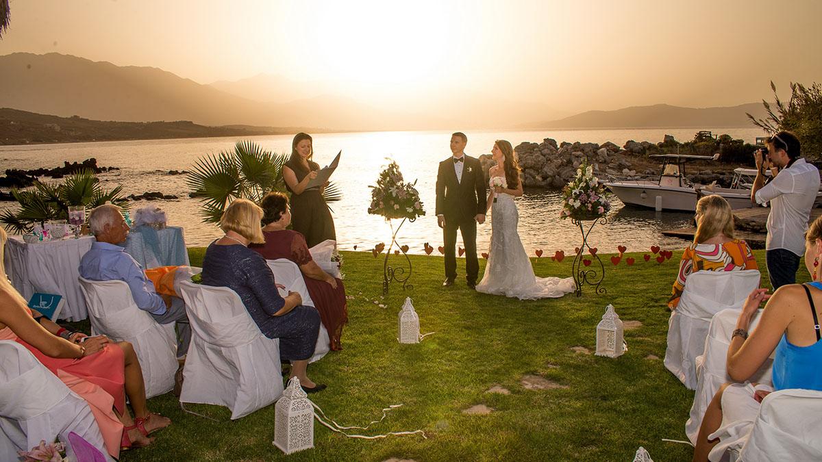 Luxury wedding at the seaside on the island of crete symbolic wedding ceremony at the seaside in greece on crete buycottarizona