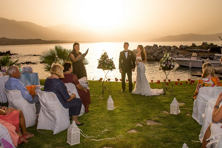 A luxury wedding at the seaside on the island of Crete, Crete