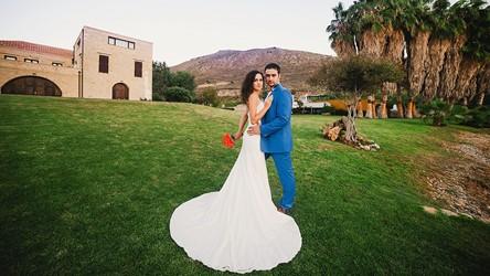 A wedding ceremony in a villa on Crete