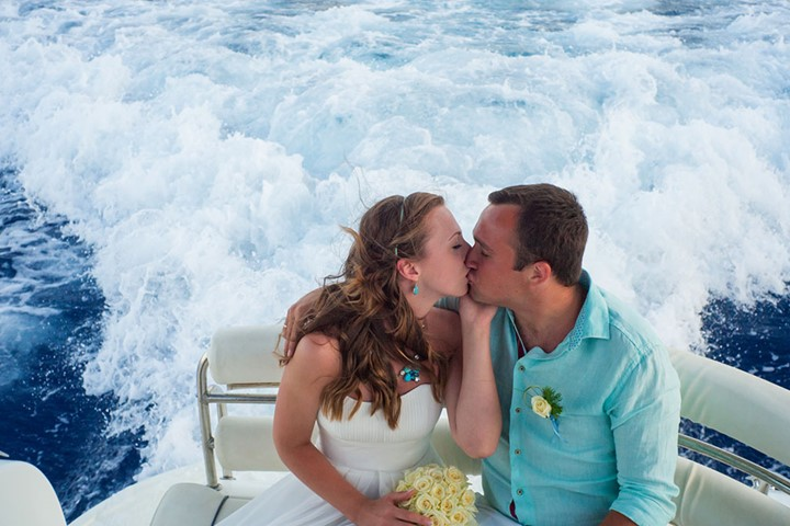 A wedding on a yacht on the island of Crete, Crete