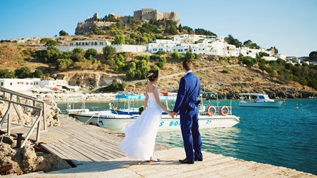 A wedding by the sea on the island of Rhodes