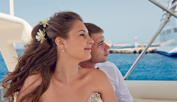 Свадьба на яхте на Родосе