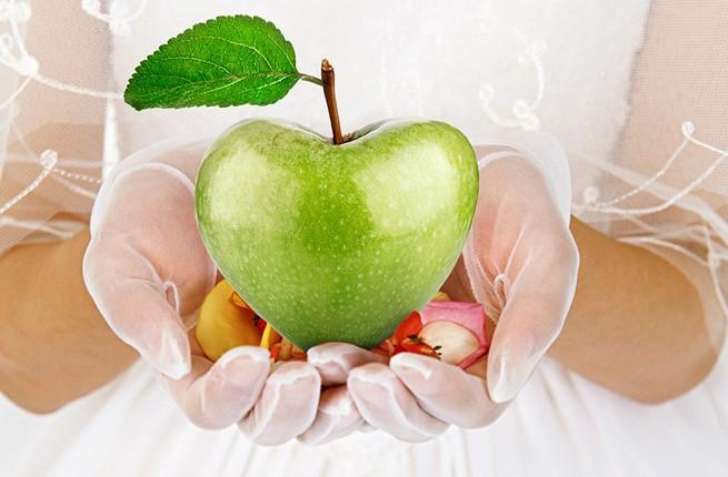 A juicy green apple on Rhodes