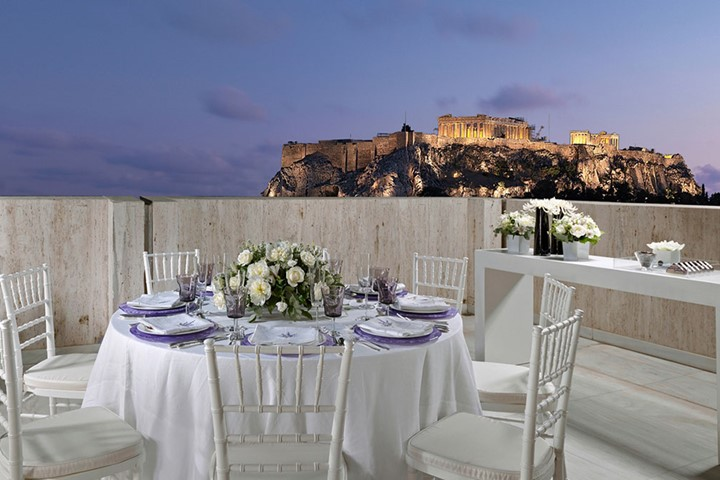 A wedding with Acropolis view