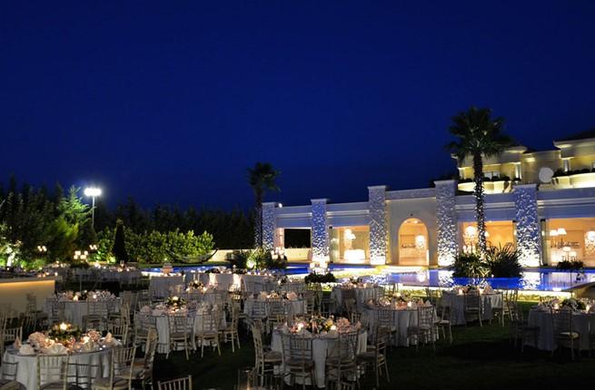 A wedding in a mansion