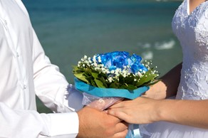 Symbolic  ceremony, A wedding by the sea on the island of Corfu