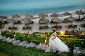 Symbolic  ceremony, A wedding by the sea on the island of Mykonos
