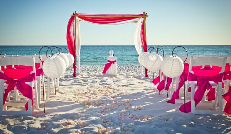 Роскошная свадьба у моря на Миконосе
