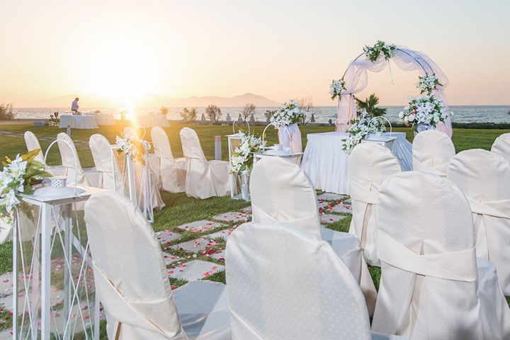 A luxury wedding at the seaside on the island of Kos, Kos