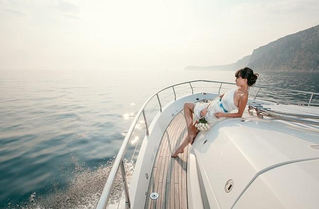 A wedding on a yacht on the island of Kos