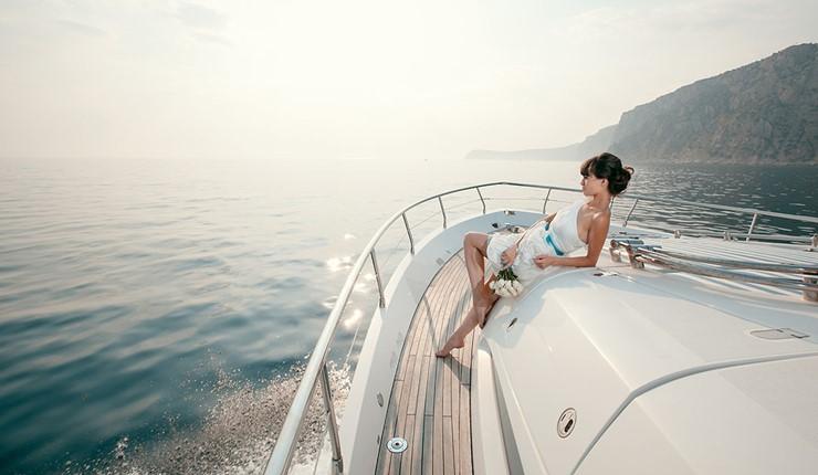 Свадьба на яхте на Косе
