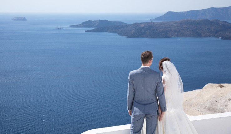 Свадебная церемония на Santorini Jem