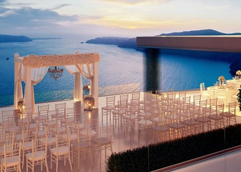 A wedding ceremony in Le ciel