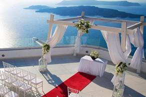 Symbolic  ceremony, A wedding ceremony in SantoWines winery