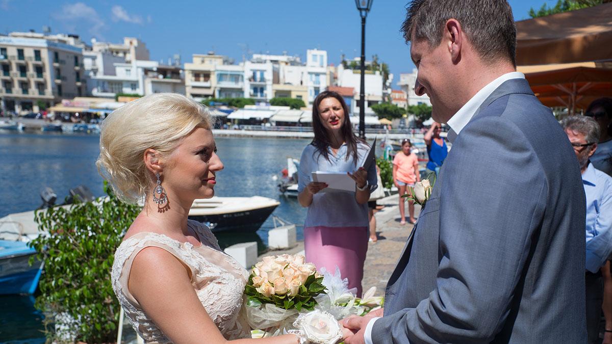 A Civil Wedding Ceremony In Agios Nikolaos
