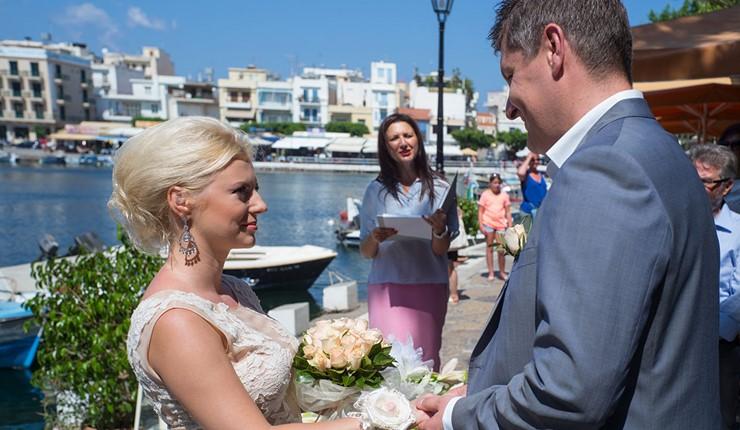 Oфициальное бракосочетание в Агиос Николаос