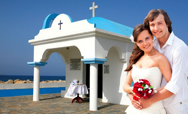 Родос, Официальное бракосочетание, Oфициальное бракосочетание в церквушке Св. Апостолов
