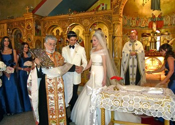 A church wedding in the Russian church in Athens