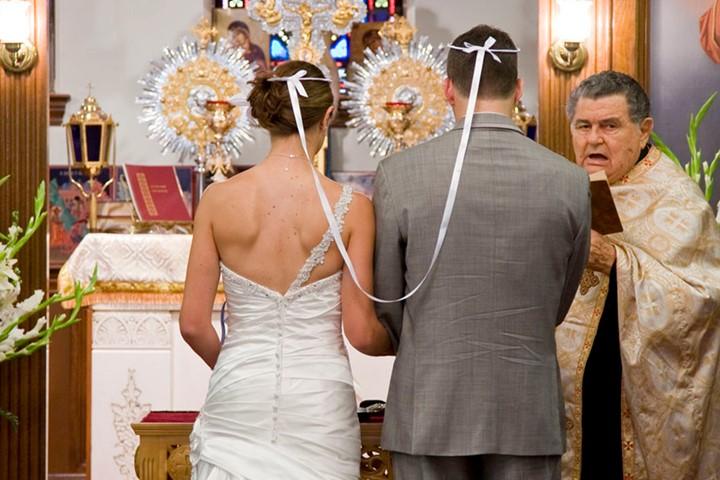 A wedding in the Church of Panagia Chrysopigi, Zakynthos