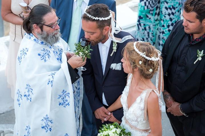 A church wedding in Vlaherna Monastery