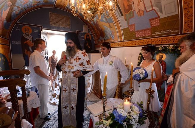 A wedding at the church on Kos island