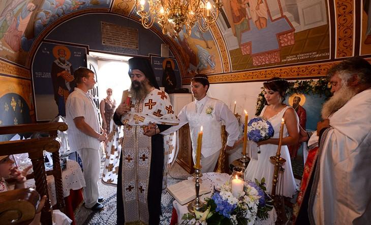 Кос, Венчание в церкви, Венчание в церкви на Косе
