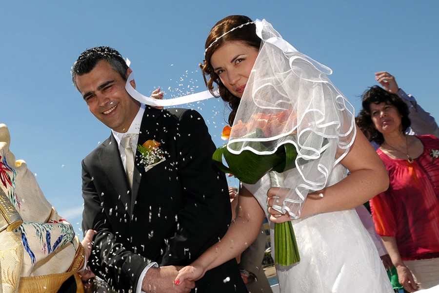 A church wedding in St. Constantine and Helena church