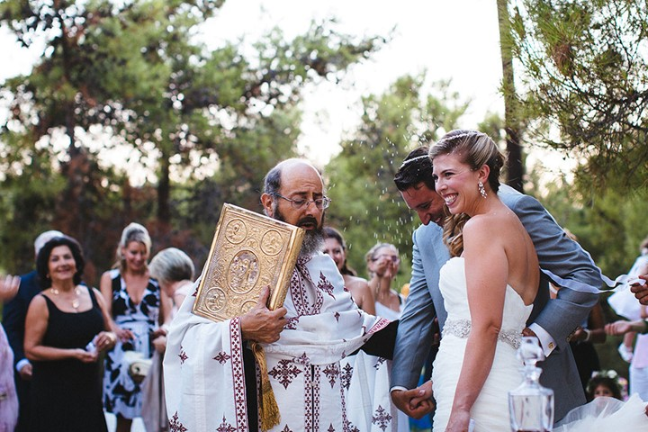 A church wedding in Agios Nikolaos church, Crete