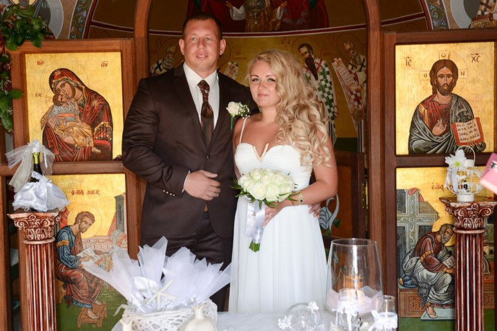 Венчание в храме Филеримской Богородицы , Родос